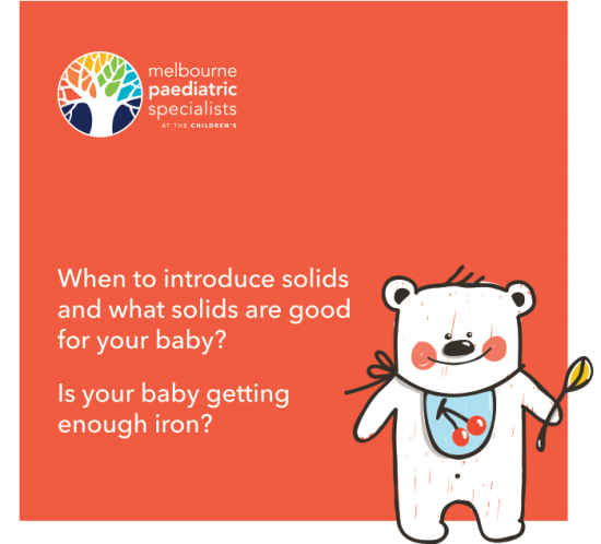 Infant Feeding - Dietary recommendation and paediatric iron