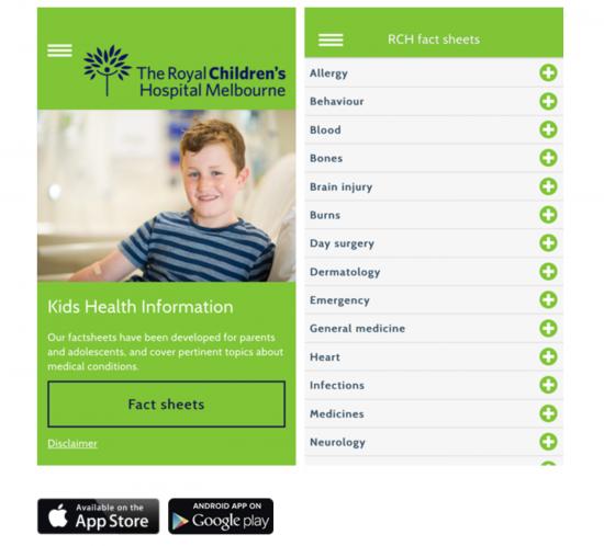 RCH - Kids Health App