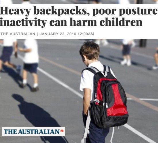 Ill fitting or extraheavy backpacks are thought to increase the risk of chronic pain later in life. Picture: Slobo Mitic