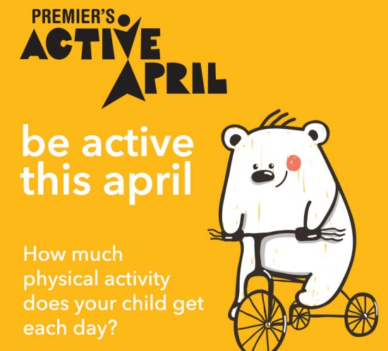 Premiers Active April 2016 - Register your family and encourage physical activity