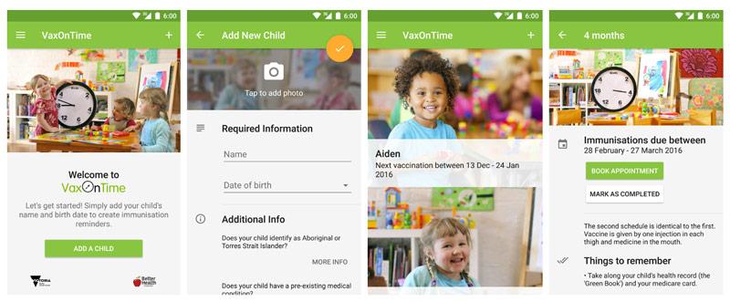 vax-on-time-app-immunisation-reminders