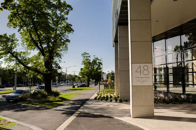 Entrance to 48 Flemington Road Parkville, The Larwill Studio - Melbourne Paediatric Specialists, Level 4