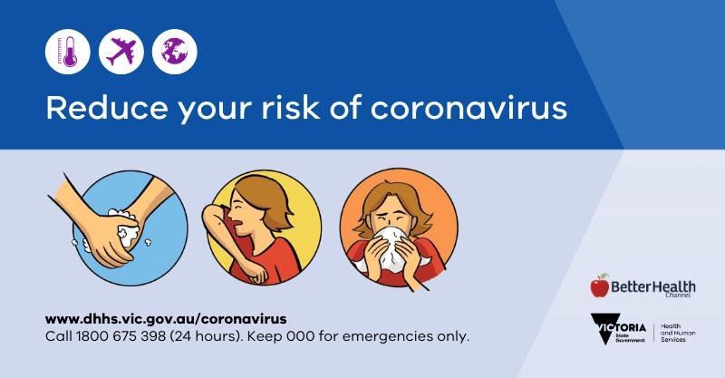 Reduce your risk of coronavirus